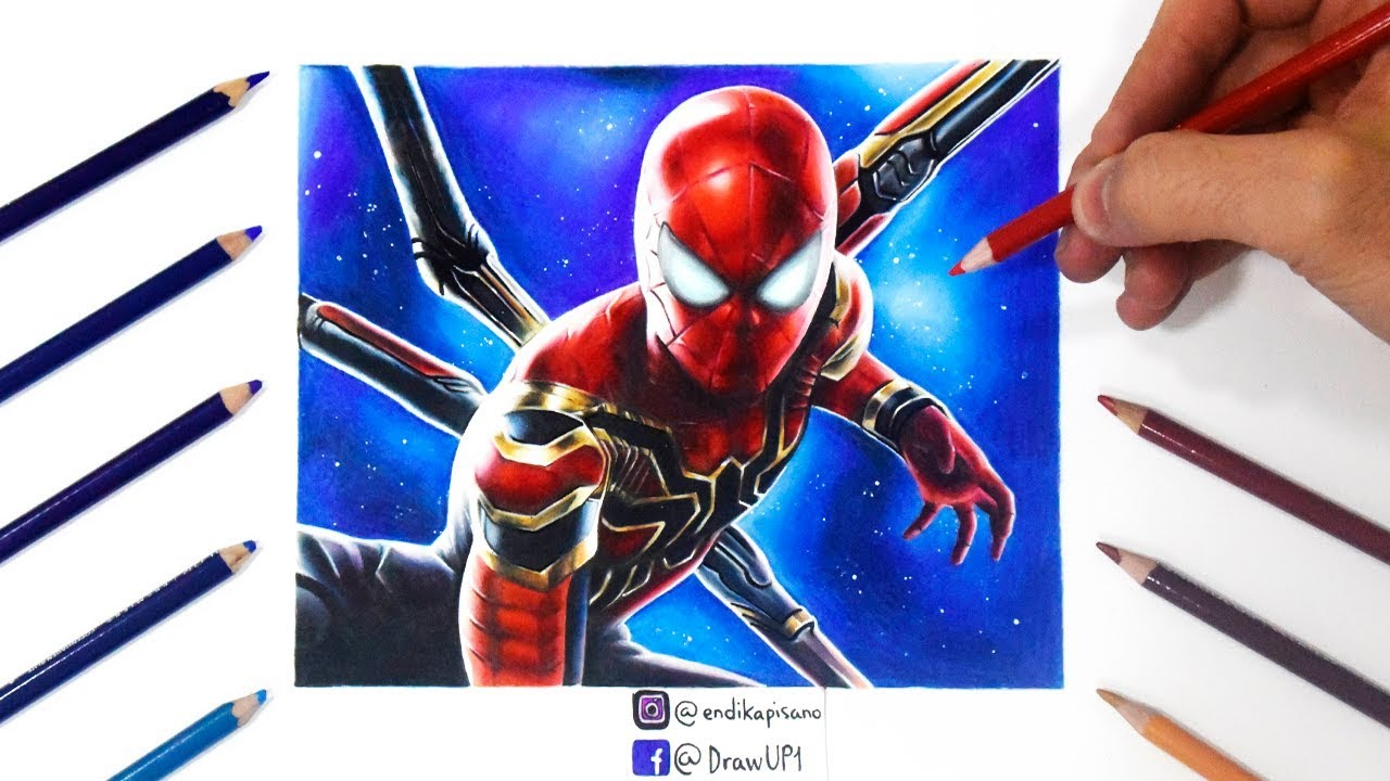 How To Draw Spider Man Avengers Infinity War Iron Spider Suit