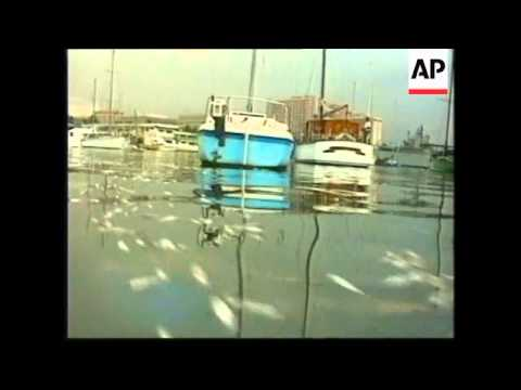 PHILIPPINES: MANILA: POLLUTION BLAMED FOR DEATH OF THOUSANDS OF FISH