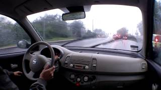 Nissan Micra K12 driving 2