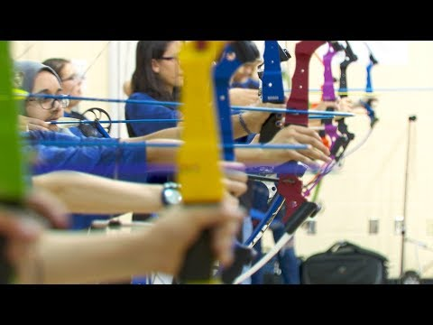 The Rocky Hill Middle School Archery Team prepares for Nationals