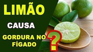 Água com limão causa esteatose hepática? (gordura no fígado)