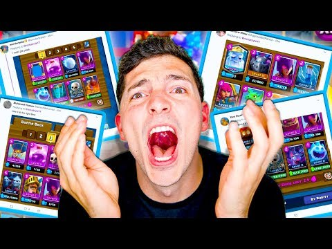 GOOD WITCH DECKS... FROM TWEETS?! | Clash Royale Nickatnyte