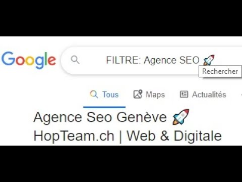 Comment Google filtre ses résultats en fonction de votre Ip géographique ici pour le keyword