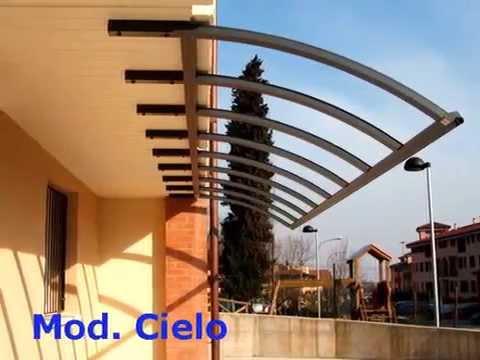 tettoie e pensiline in alluminio su misura da