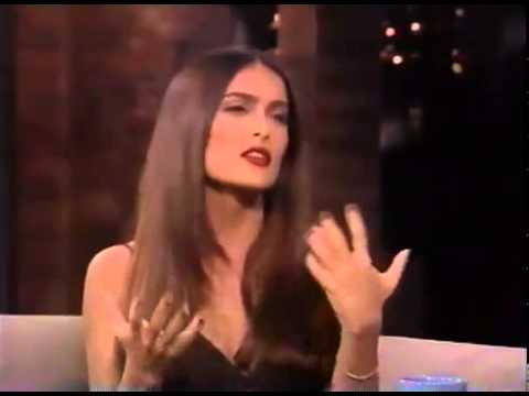 Lovely young Salma Hayek  - interviewed in 1997 - knock knock