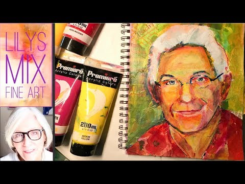 PORTRAIT COLLAGE PAINTING TUTORIAL. Mixed Media