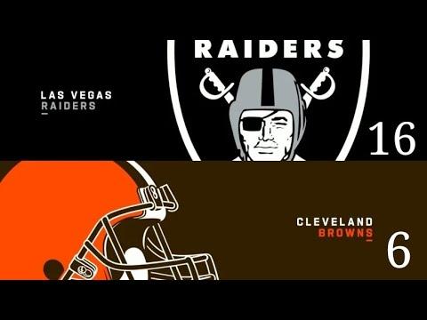 Las Vegas Raiders Improved Defense Defeats Cleveland Browns 16 - 6 By Joseph Armendariz