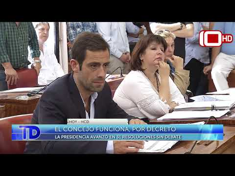El Concejo funciona, por decreto: la presidencia avanzó en 31 resoluciones sin debate