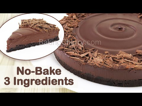 no-bake-3-ingredient-creamy-chocolate-tart-recipe-|-diy-yummy-and-easy-dessert-|-baking-cherry