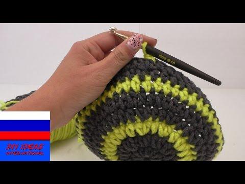 Вопрос: Как сменить цвет нити при вязании крючком?