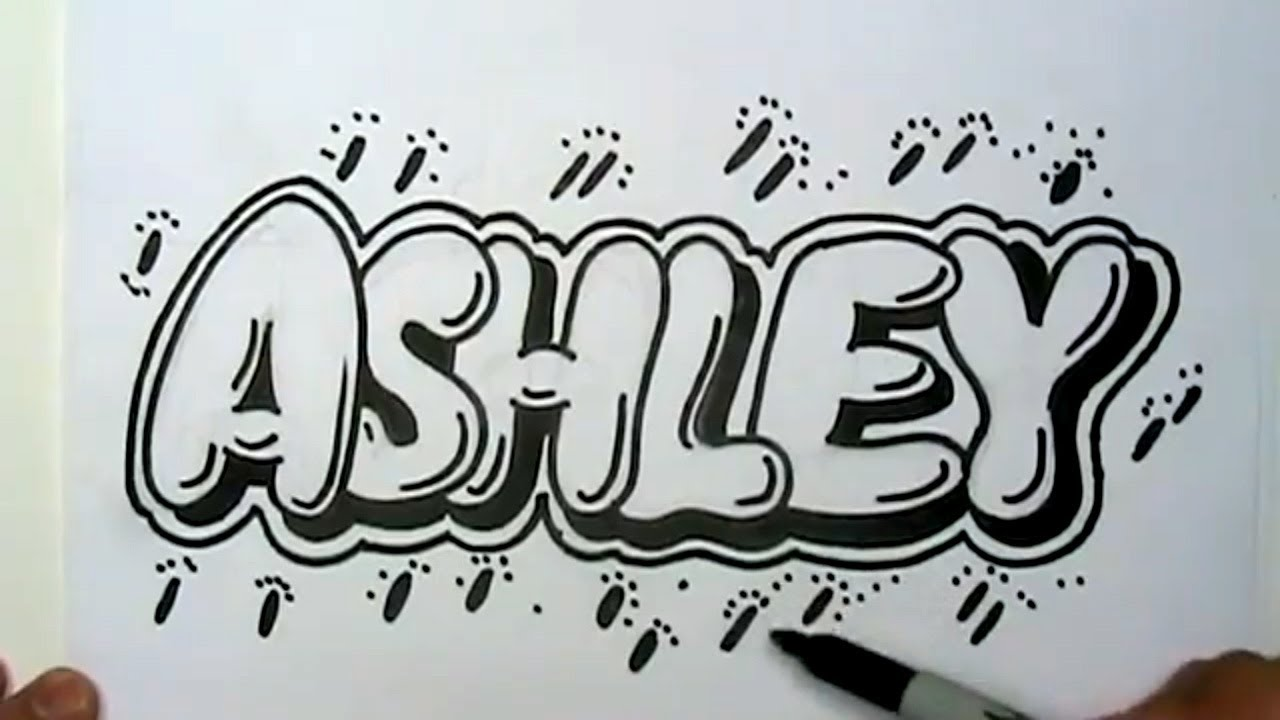 Uncategorized Bubble Letter Name how to draw ashley in graffiti letters write bubble mat youtube