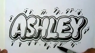 How to Draw Ashley in Graffiti Letters - Write Ashley in Bubble Letters