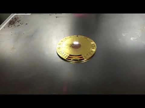 China Fiber Laser Marking Engraving Machine Application on Medal Metal