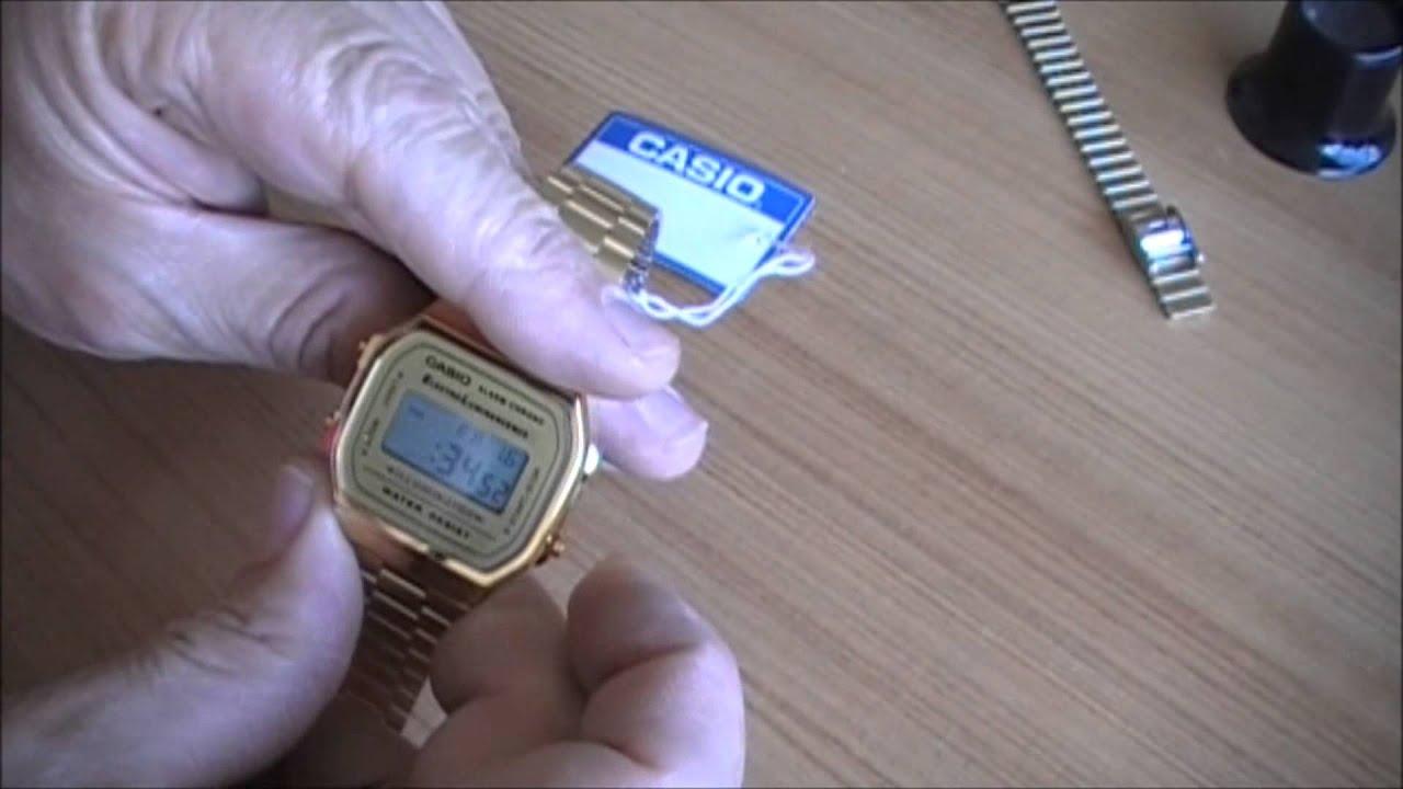 Reloj Casio A168 ( Como cambiar la hora )