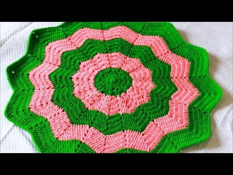 Star Blanket Part 1 Of 2 Baby Blanket Classic Round Ripple Crochet