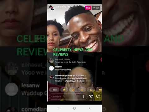 Roland is calling out the people in the comment section on godfrey Instagram live