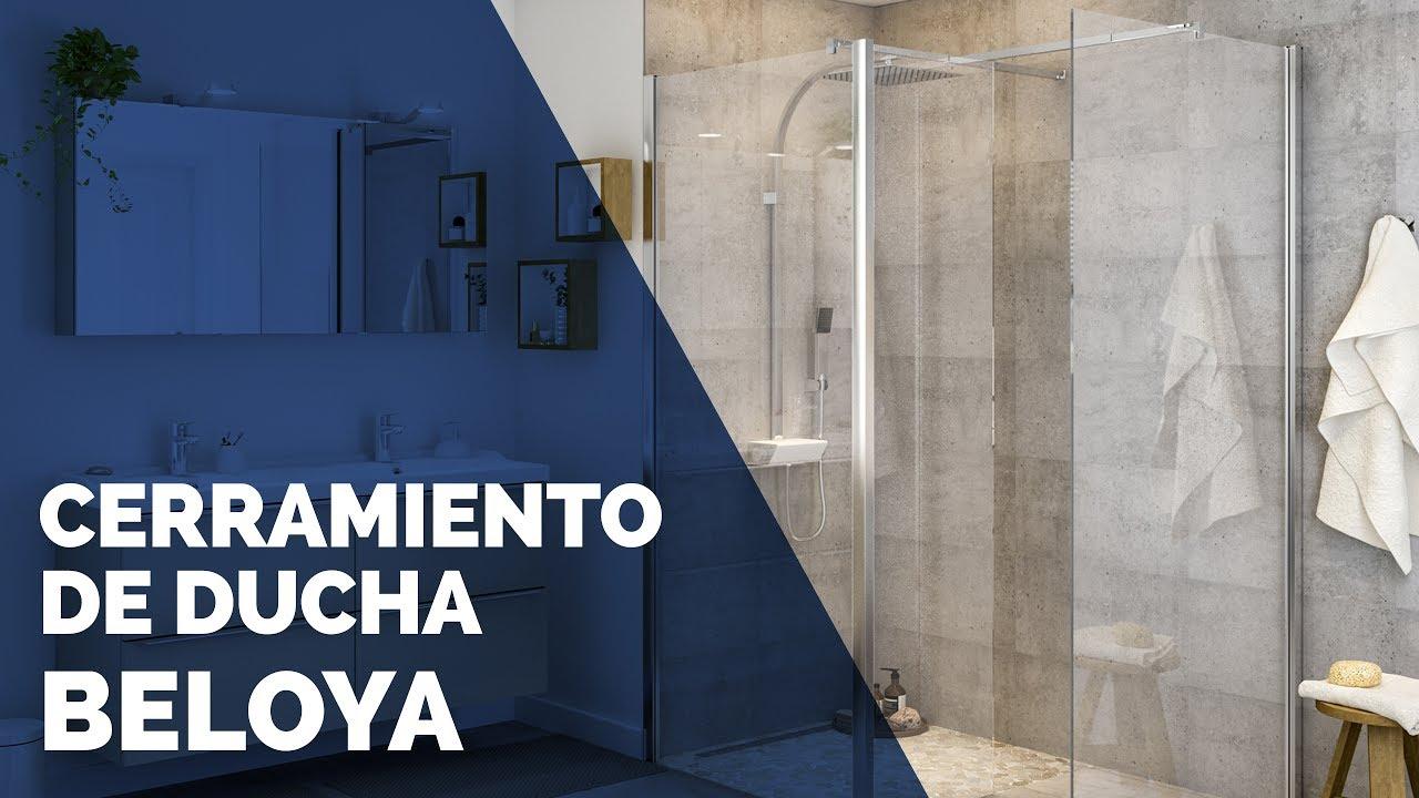 Brico depot cerramiento de ducha beloya youtube for Cabinas de ducha bricodepot