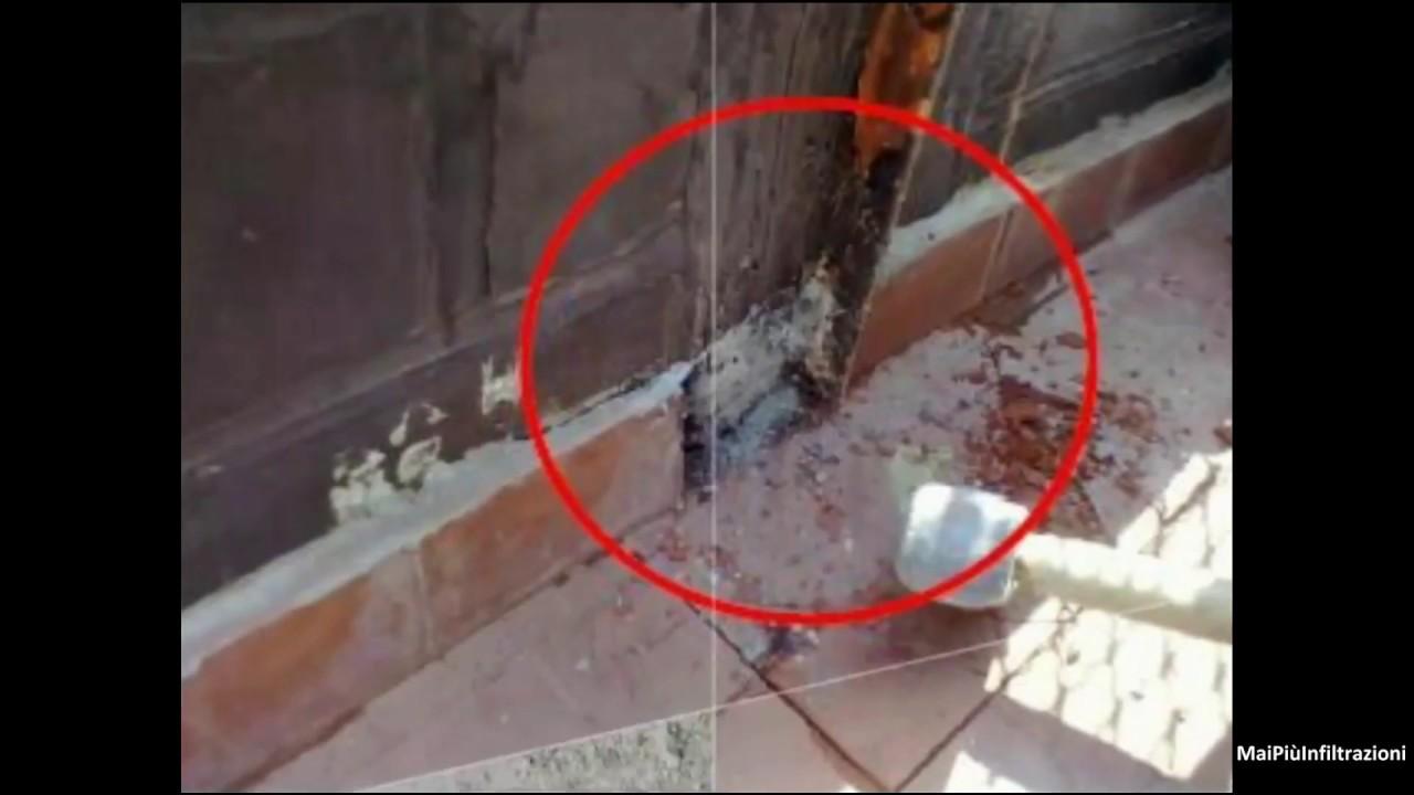 Infiltrazione d\'acqua piovana da terrazzo verso un appartamento ...