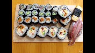как сделать суши-роллы , не дорого, вкусно и очень просто.