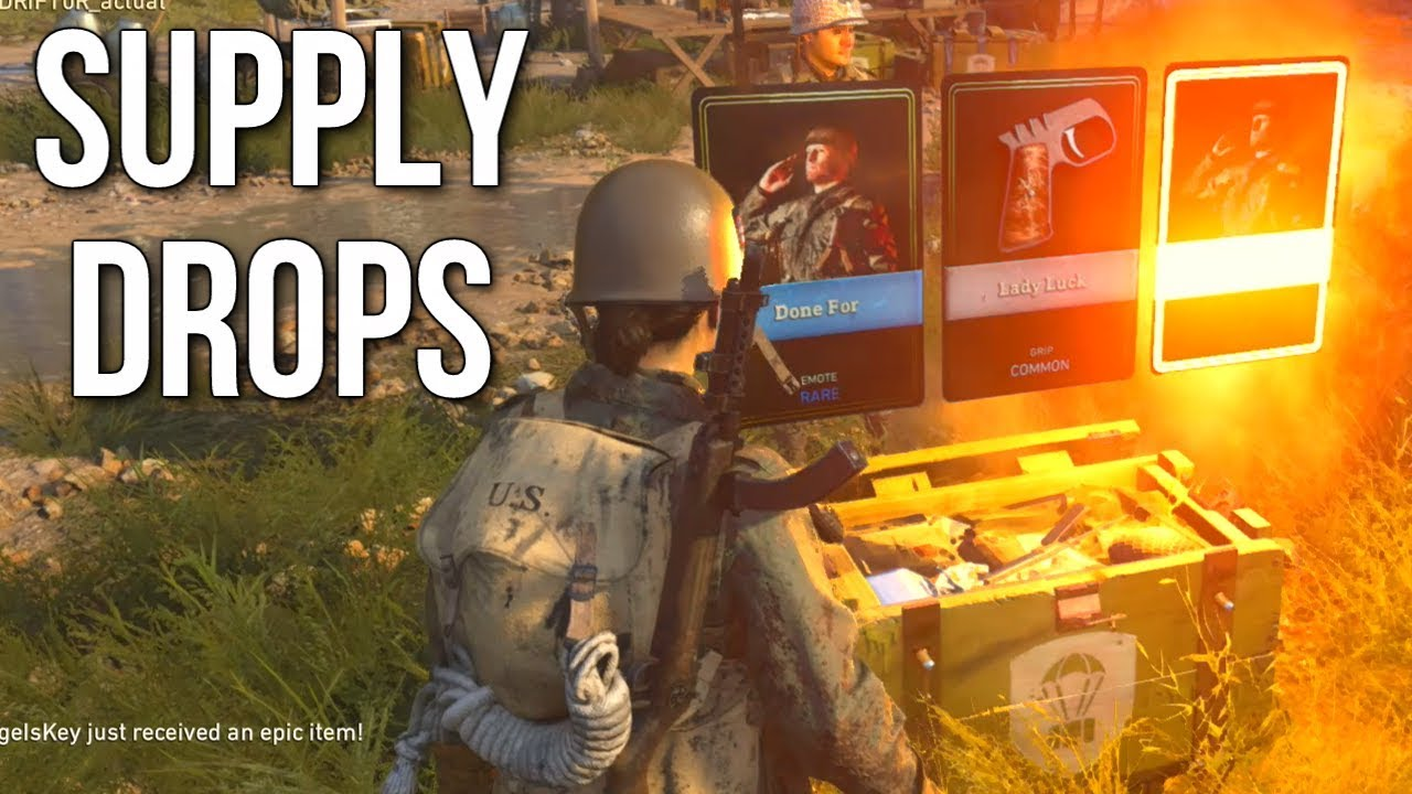 cod ww2 how to buy supply drops