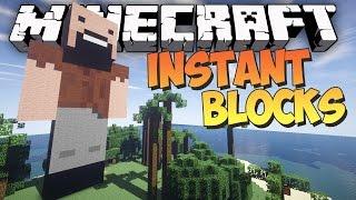 Minecraft: INSTANT STATUES, SCHEMATICS & MORE - Instant Blocks Mod Showcase