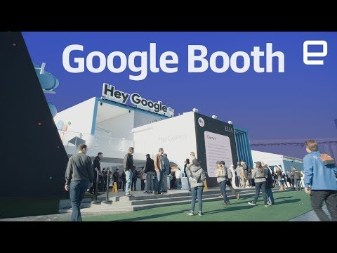 Google booth tour at CES 2018