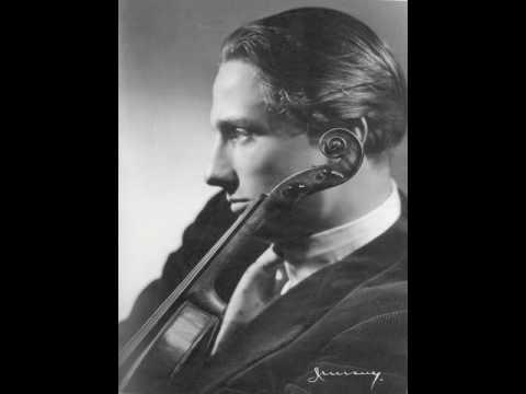 Franco Gulli plays Paganini concerto n. 5 in a minor - second movement