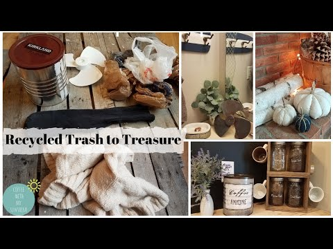 RECYCLE TRASH TO TREASURE | ZERO WASTE DIY DECOR IDEAS REUSE | FARMHOUSE FALL SWEATER SOCK PUMPKIN