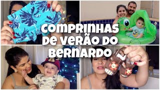 COMPRINHAS DE VERÃO + PRIMEIRA VEZ NA PISCINA *bebê6meses
