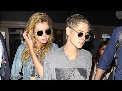 Kristen Stewart And Stella Maxwell Fly Back With Robert Pattinson
