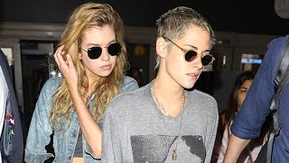 Download Kristen Stewart And Stella Maxwell Fly Back With Robert Pattinson Mp3 and Videos