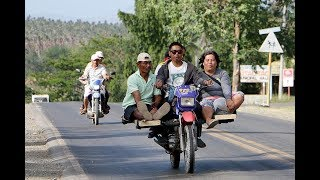 MORE FUN IN THE PHILIPPINES. MOTORCYCLE TAXI. TRAVEL, TOURISM.