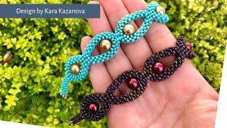 Heaven Teardrop bracelet tutorial | Cubic Right Angle Weave | Beaded Bracelet