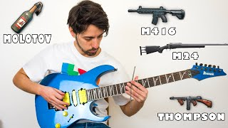 Pubg sounds and music on guitar