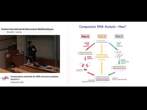 Sebastian Will: Comparative methods for RNA structure analysis - Lecture 1