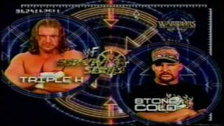 WWF Survivor Series 2000 Matchcard