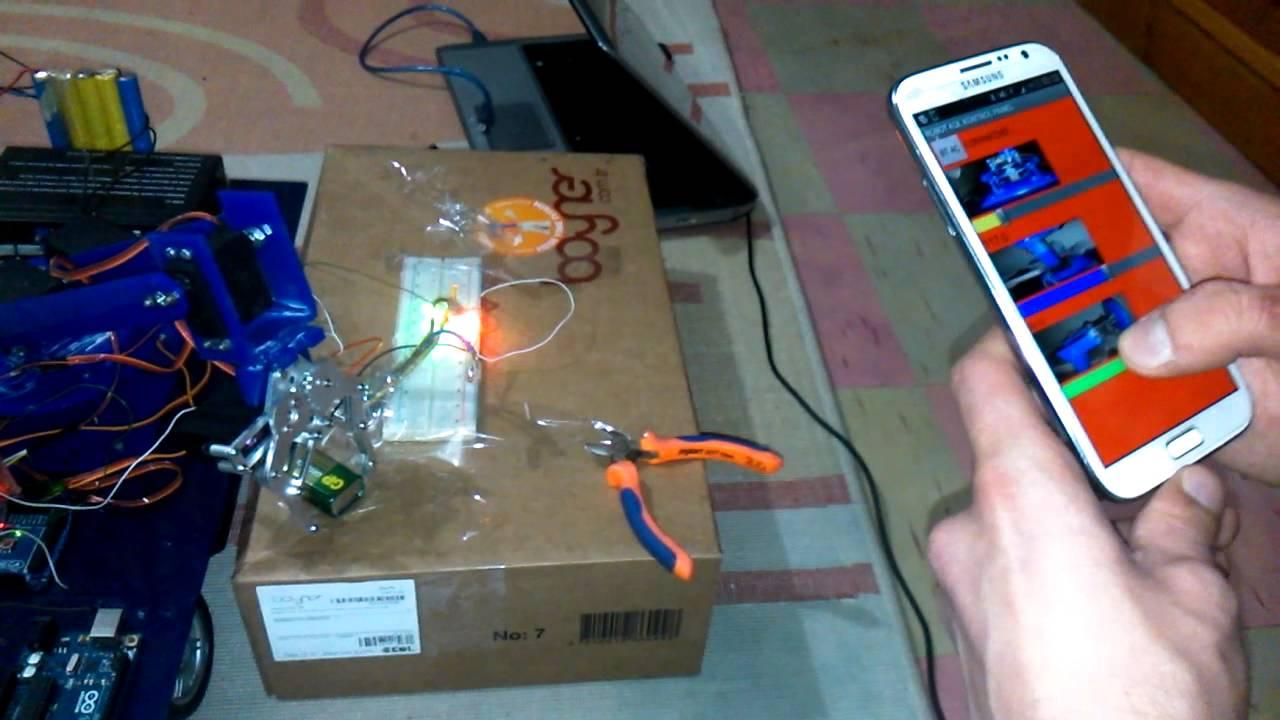 Arduino bluetooth kontrollü bitirme projesi youtube