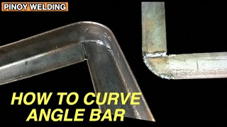 HOW TO CURVE 90 DEGREES ANGLE BAR WITHOUT POINTED EDGE