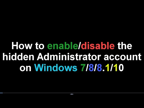how to make administrator account on windows 8