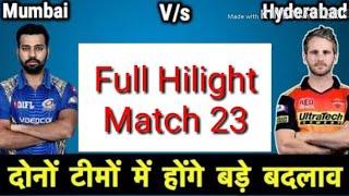 IPL 2018 # 23 Match full hilight live new || mumbai indians vs sunrisers hyderabad full hilight new