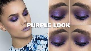 Purple Look (with subs) - Linda Hallberg Makeup Tutorials Thumbnail