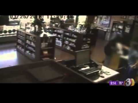 Armed citizens fight back... take down robber