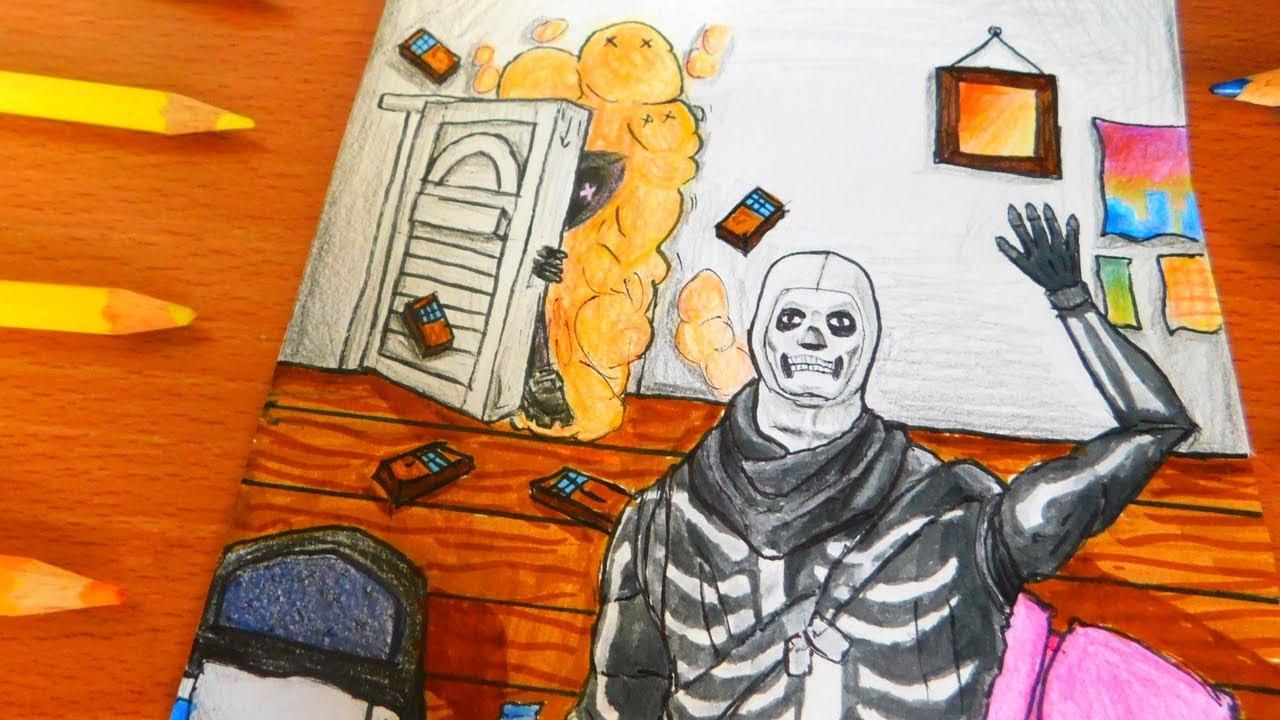 Fortnite Skull Trooper Skin Drawing Clipzui Com