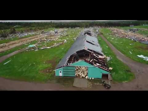 Stunning drone video captures extent of damage caused by Wisconsin tornado