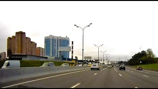 Driving Highway in Moscow