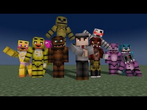 Minecraft fnaf mod showcase youtube