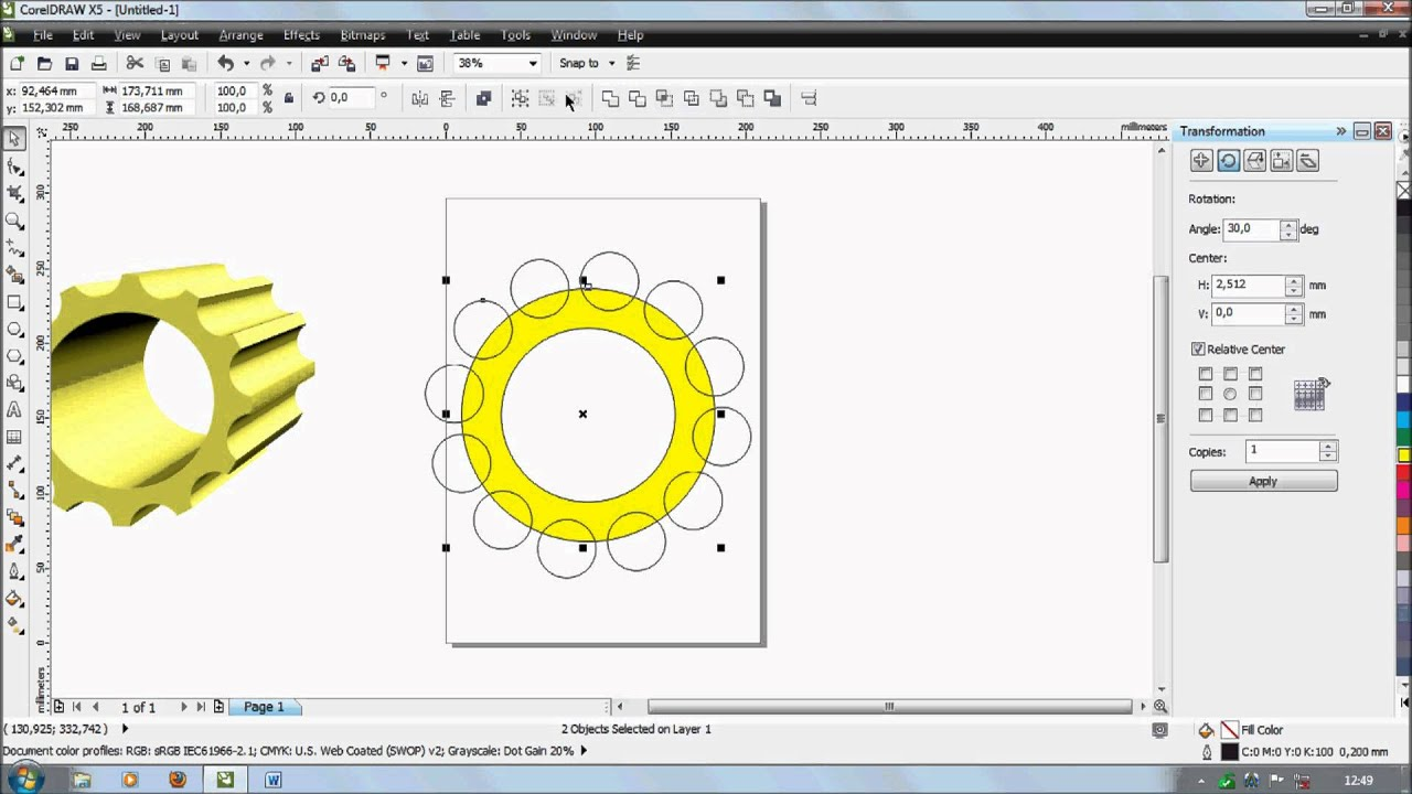 Line Art Coreldraw Tutorial : Tutorial corel ferramenta d youtube