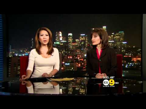 Leyna Nguyen 2011/06/01 9PM KCAL9 HD; Tight white top thumbnail