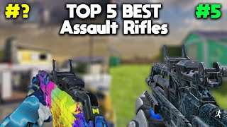 TOP 5 BEST ASSAULT RIFLES in COD MOBILE! SEASON 2 Official After Update! ( Call Of Duty: Mobile )