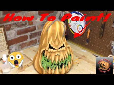 How to make a Paper Mache Pumpkin 2nd Generation Part 4